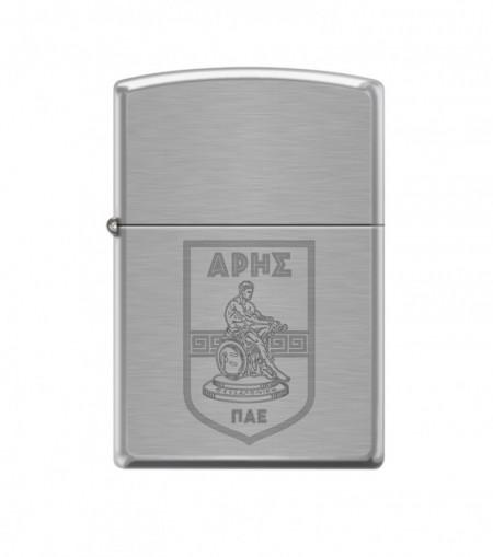 ZIPPO Ασημί-Ματ με χαραγμένο λογότυπο #200