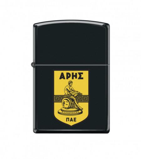 ZIPPO Μαύρο-Ματ με έγχρωμο λογότυπο #218
