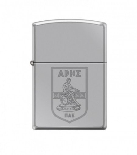 ZIPPO Ασημί γυαλιστερός με χαραγμένο λογότυπο #250