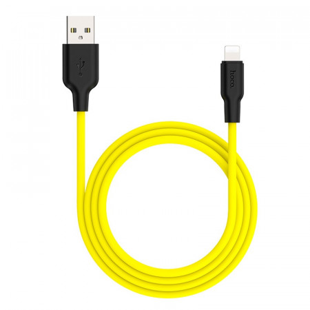 hoco X21 plus silicone cable for Lightnig yellow