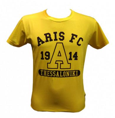 T-shirt Man ARIS FC 1914 Κίτρινο