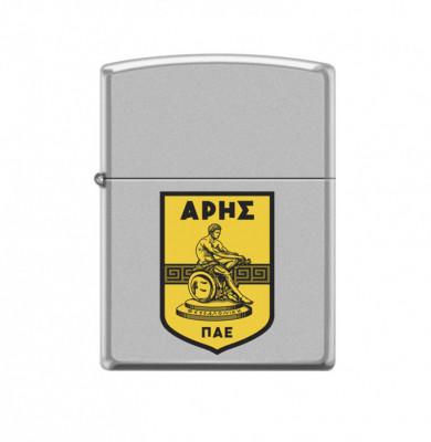 ZIPPO Ασημί-Ματ με έγχρωμο λογότυπο #205