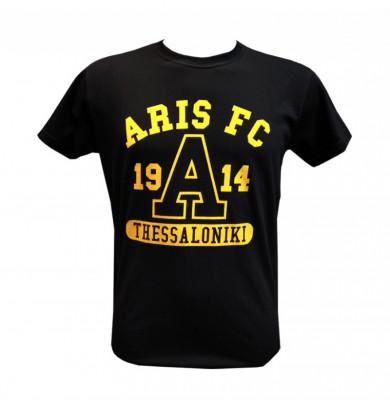 T-shirt Man ARIS FC 1914 Μαύρο