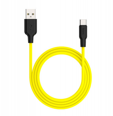 hoco X21 plus silicone cable for Type C yellow