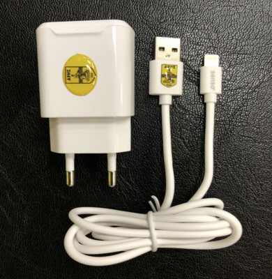 SENSO FAST TRAVEL CHARGER 2.1A + LIGHTNING DATA CABLE